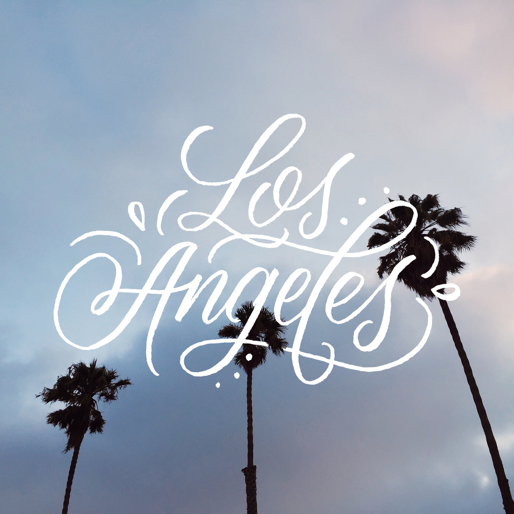 Los Angeles - Lettering by Wink & Wonder