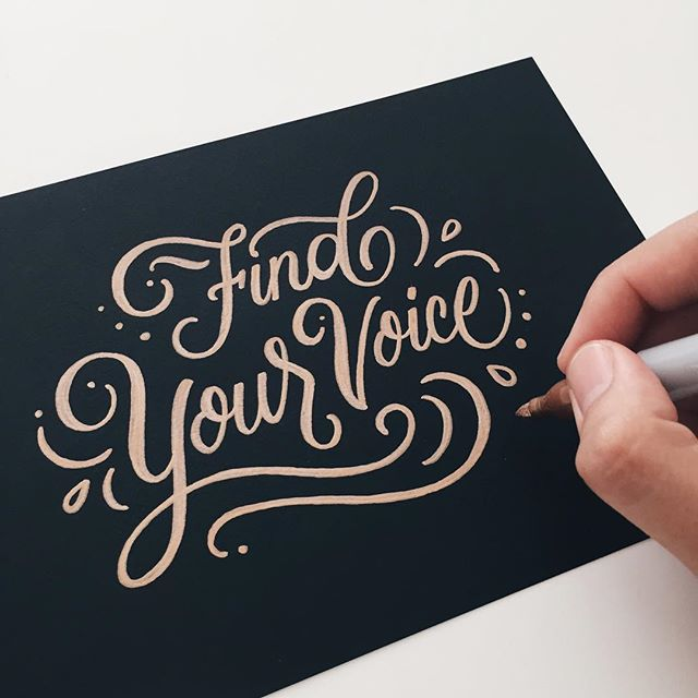 Find Your Voice - Lettering by Wink & Wonder