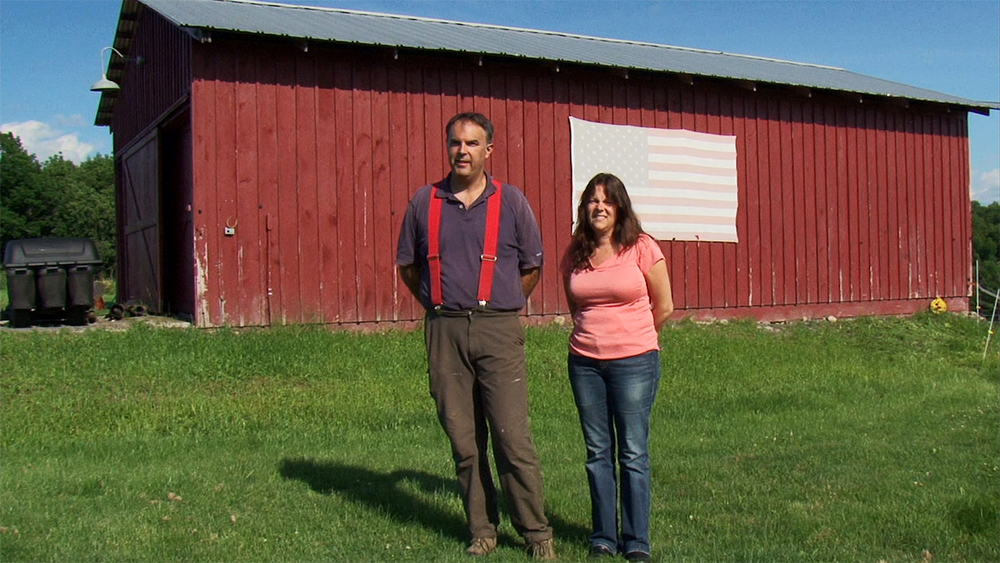 Remus Preda and Lisa Randles at White Clover Farm