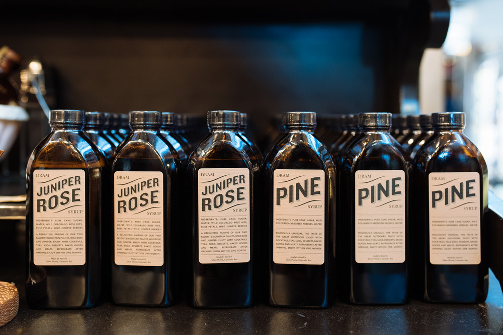 Juniper Rose and Pine Syrup from Dram Apothecary