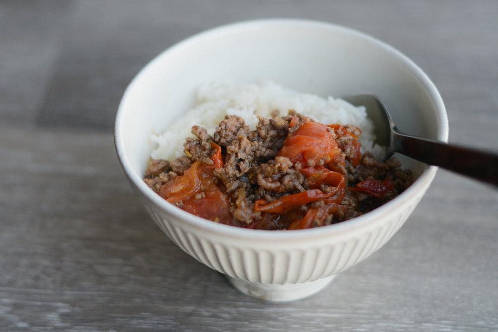 Tomato beef rice