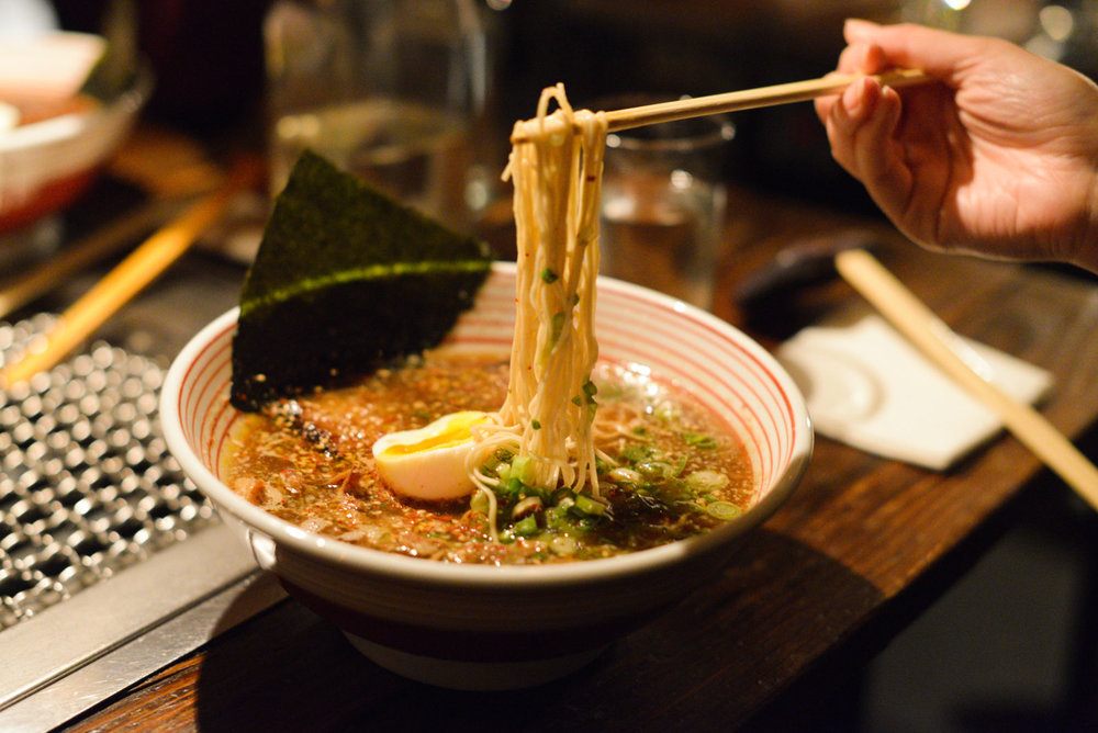 Ramen at Takashi, 1am.