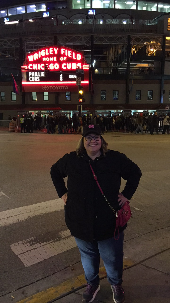 The Cubs WON! I got a new hat too.