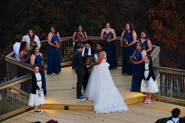 Surrounded by their bride tribe of friends, they said their very personalized vows to each other in the cold afternoon of a sweet November day. I loved working with Megan and Christina and all of their outstanding wedding vendors, everyone was so awesome and it turned out to be an incredible day. @phocus3photography  @stonemountainvineyards  @kitchen_catering  @blakemoresflowers