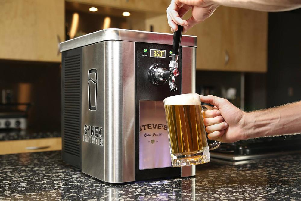 The Synek Draft System brings a beer tap to your home.