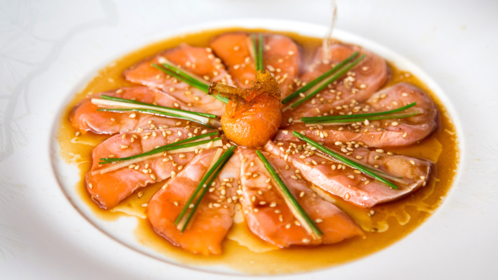 Salmon Sashimi New Style, p  hoto by Henry Hargreaves