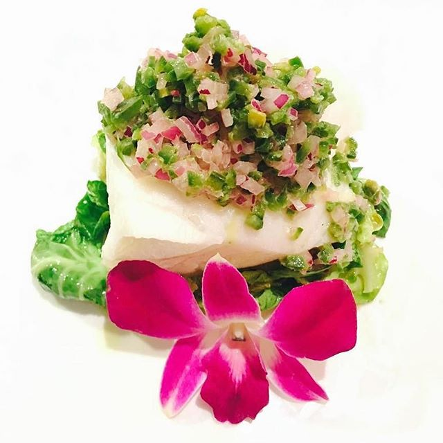 #nobustyle steamed sea bass from @NobuDallas delivers the perfect combination of crunchy, spicy, savory #nobu #nobudallas #instafoodie