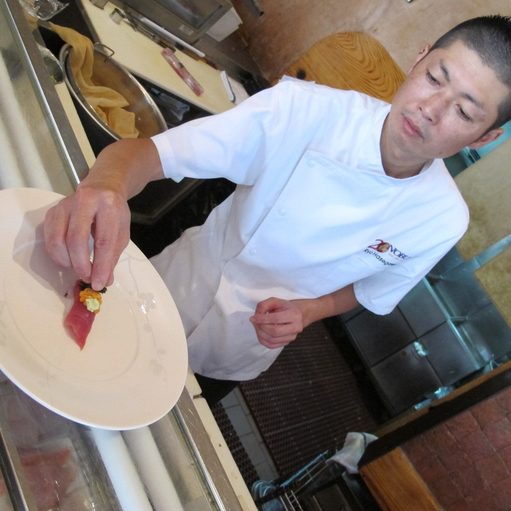 Executive Sushi Chef Ryo Hasegawa, Nobu Downtown. Photo Courtesy of Ryo Hasegawa