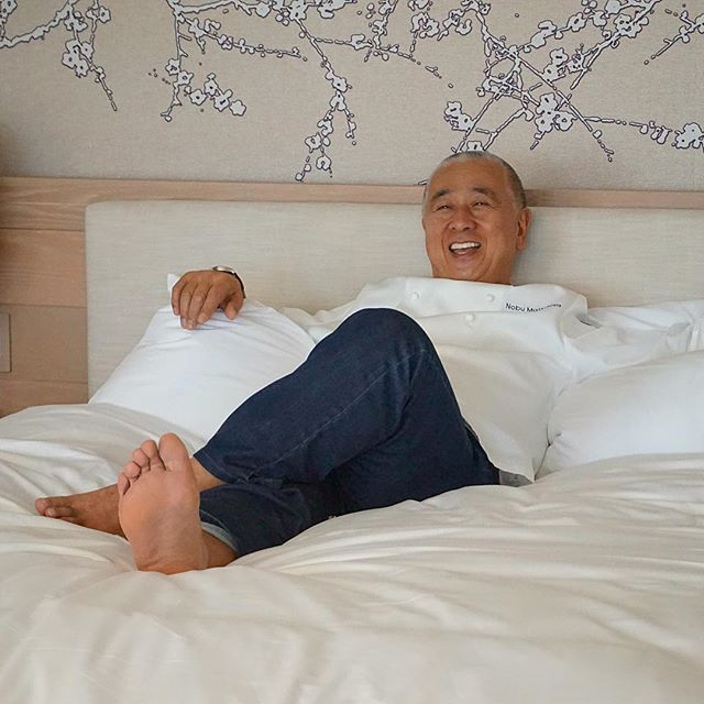 @therealnobu enjoying the simple luxuries of @Nobuhotels in #Miami @nobuedenroc for #SOBEWFF