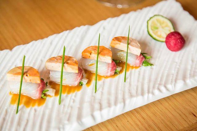 Fluke Sashimi & Monkfish Pate #nobustyle