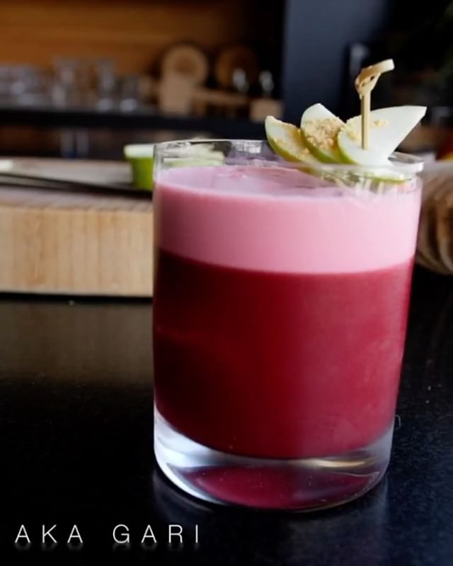 You have just a few more weeks to try the Aka Gari, the latest Grand Cordon cocktail created at #nobulosangeles available through May 31 at Nobu U.S. locations.  American Harvest Organic Vodka combines with vibrant beet juice, monk fruit organic ginger simple syrup, organic lemon juice and Lakewood Organic Harvest Red Varietal Syrah with Estate Cranberry Juice. Garnished with Organic Rainier Granny Smith Apple.  This is the first #organiccocktail for #noburestaurant.  @americanharvestvodka 🎥@adriancanna 📸 @zalahaphotography  #nobucocktails #nobugrandcordon #nobustyle #cocktails #nobu #mixology #drinksofinstagram #imbibegram #cocktailoftheday cocktailphotography #libations #nobulasvegashardrock #nobulasvegascocktails #nobuhardrock #cheers #getyourthirston #craftcocktails #perfectcocktails