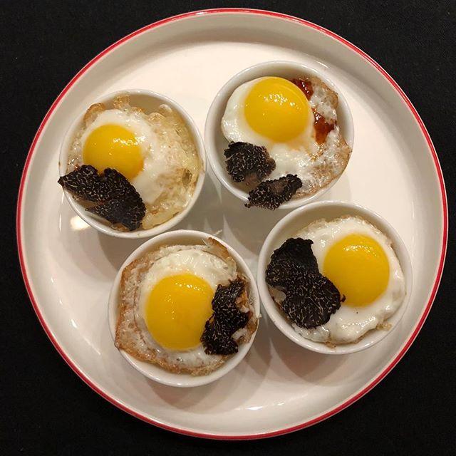 Look at these decadent Quail Egg sushi cup with truffle aioli and shaved truffle! Yum! 乾杯!#nobu #nobudallas #nobuworldwide #lovenobu #egg #truffle #quaileggs