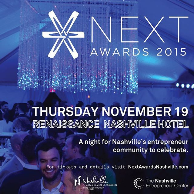 It's Friday so we're thinking about all the parties in our future this fall. THIS one is going to be epic. #NEXTAwards @nashchamber