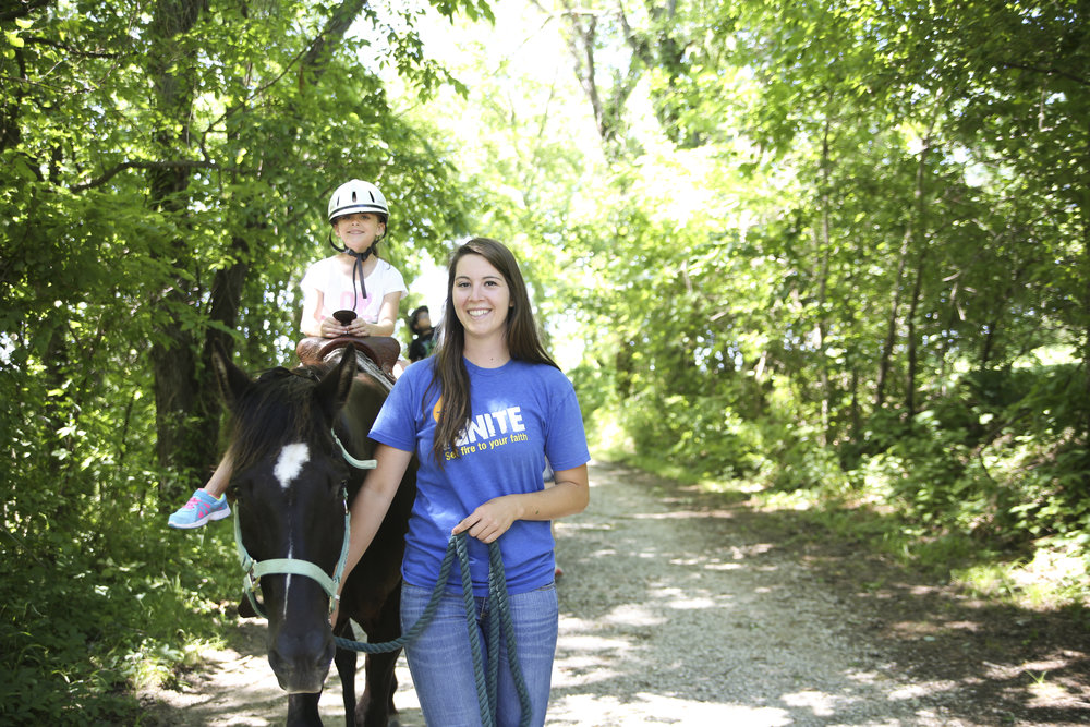 Horse rides are a great way to spend time in nature and learn more about God's Creation.