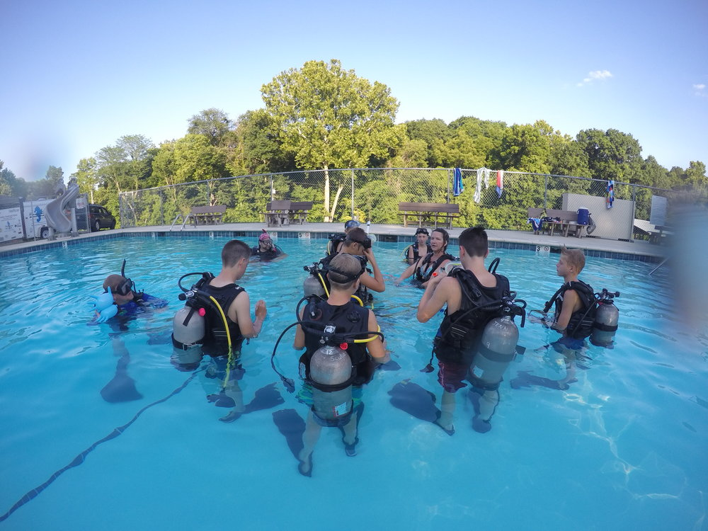 Scuba diving at camp!? That's right!