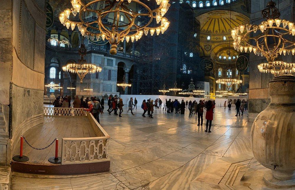 Inside the Hagia Sophia!