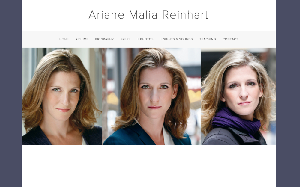 Ariane Reinhart home page.png