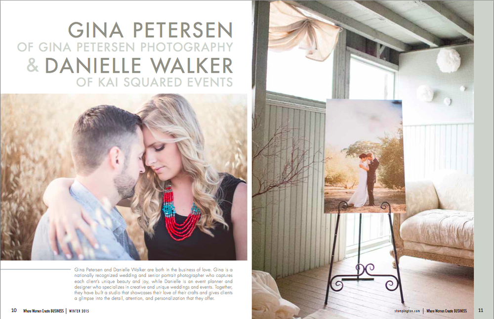 KSE and Gina Petersen Photography Feature in  where women create BUSINESS Winter 2015