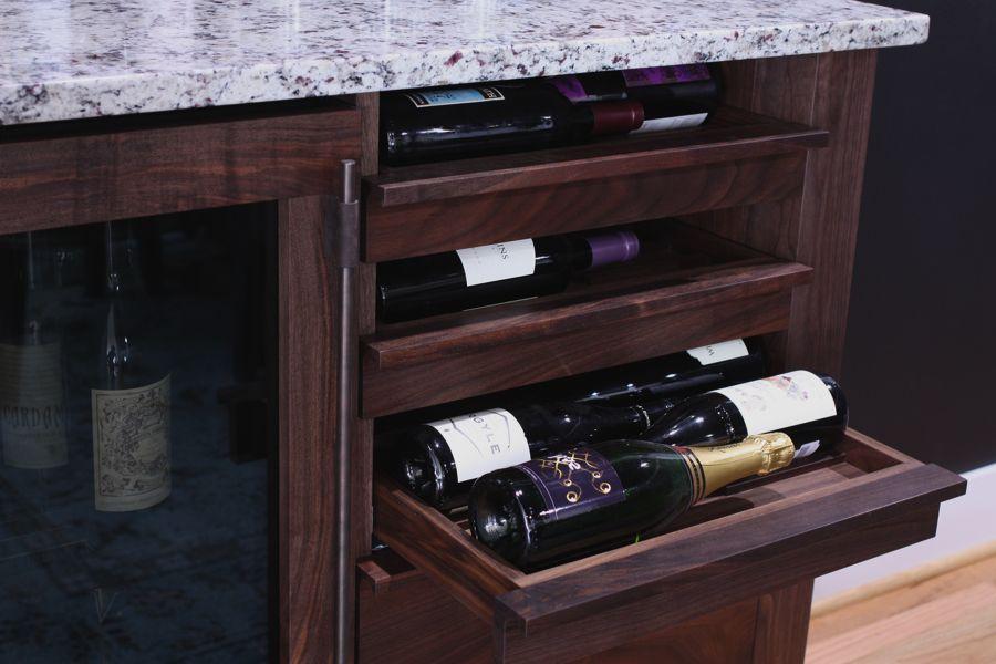 Matthew peterson custom furniture samson home bar trestle dining table Home bar furniture portland oregon