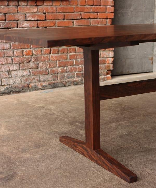 matthew peterson custom furniture Agabon Modern Trestle Dining Table