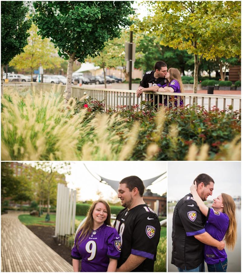 Emily & Adam's Inner Harbor Engagement shoot in Baltimore City.