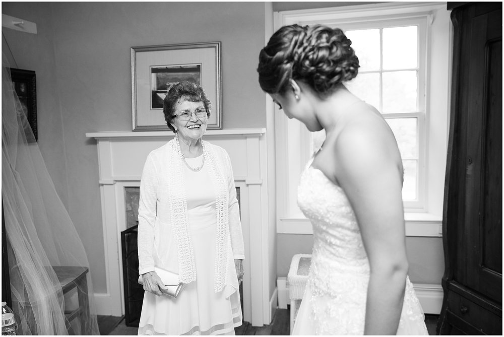 I loved this unplanned first look with her grandmother!