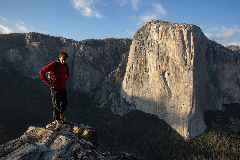 Alex Honnold in front of El Capitan