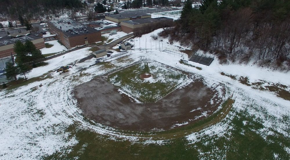 The current baseball diamond at Christian Boys Academy that will be completely redone as per Jack's Wish