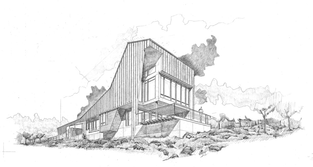 Round Mountain House Concept Drawing