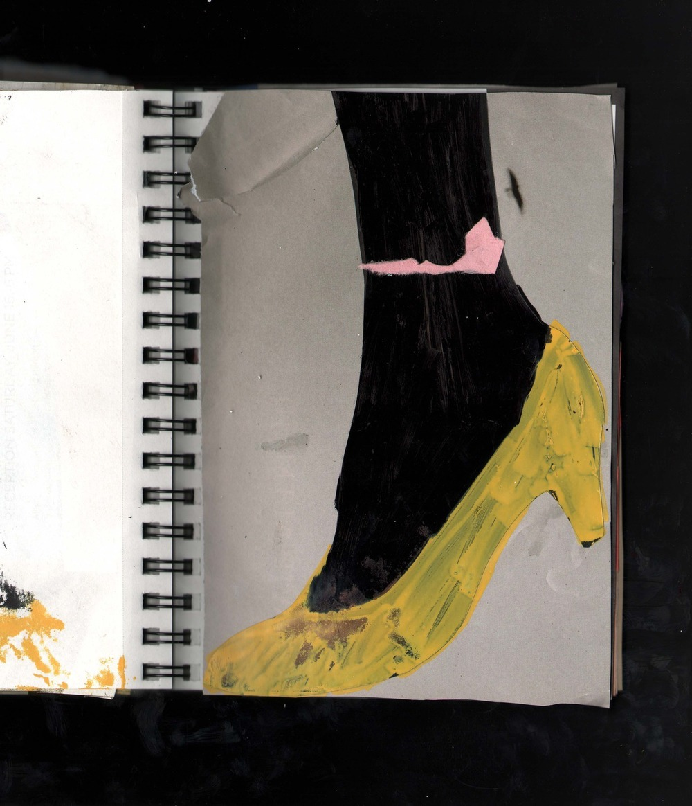This book of collages was made in the fall of 2012  Various paper, oil and acrylic based paints  Closed is 5.5 x 8.5 inches