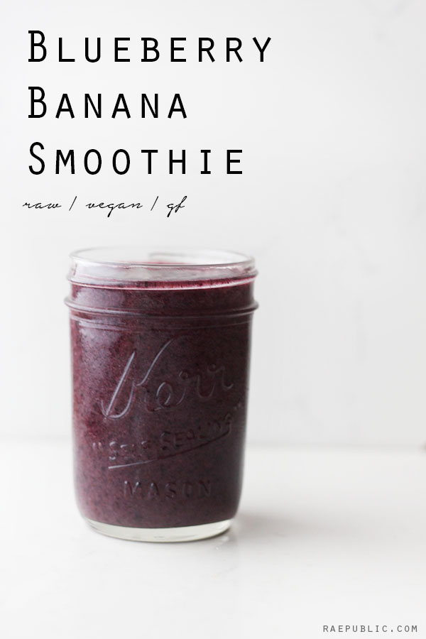Easy vegan recipe - BLUEBERRY BANANA SMOOTHIE that is so refreshing you can skip the coffee baby! cheers to a plant-based diet.