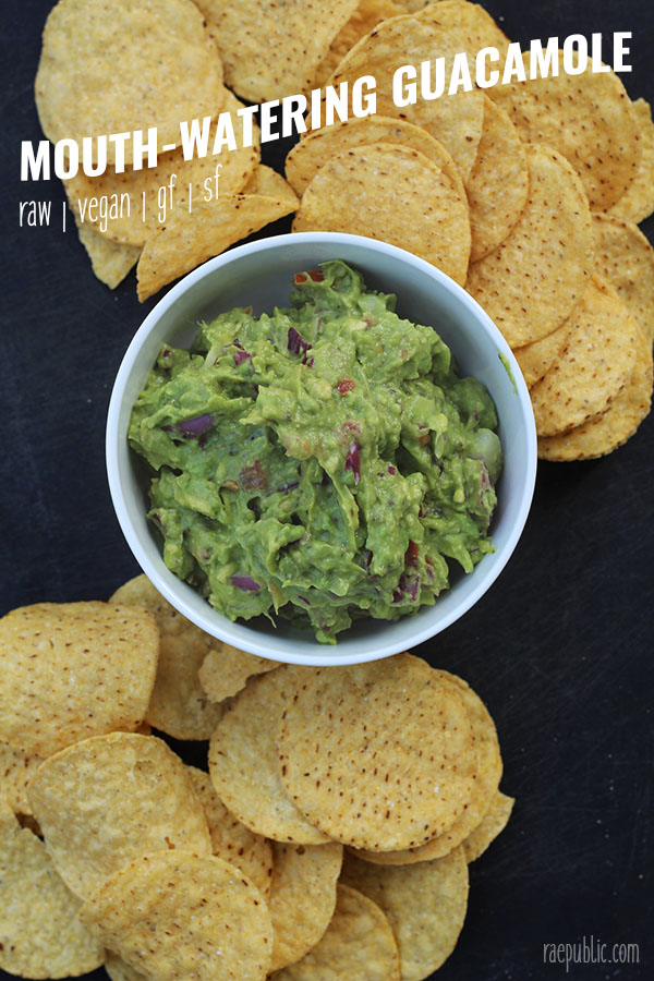 Easy, vegan guacamole that is so freaking delicious your taste buds might actually dance! Gluten-free and dairy-free so all can enjoy!