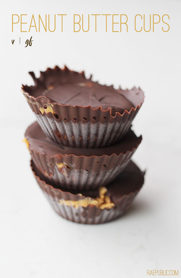 Easy, 3 ingredient PEANUT BUTTER CUPS that just so happen to be dairy-free and gluten free so all can enjoy.