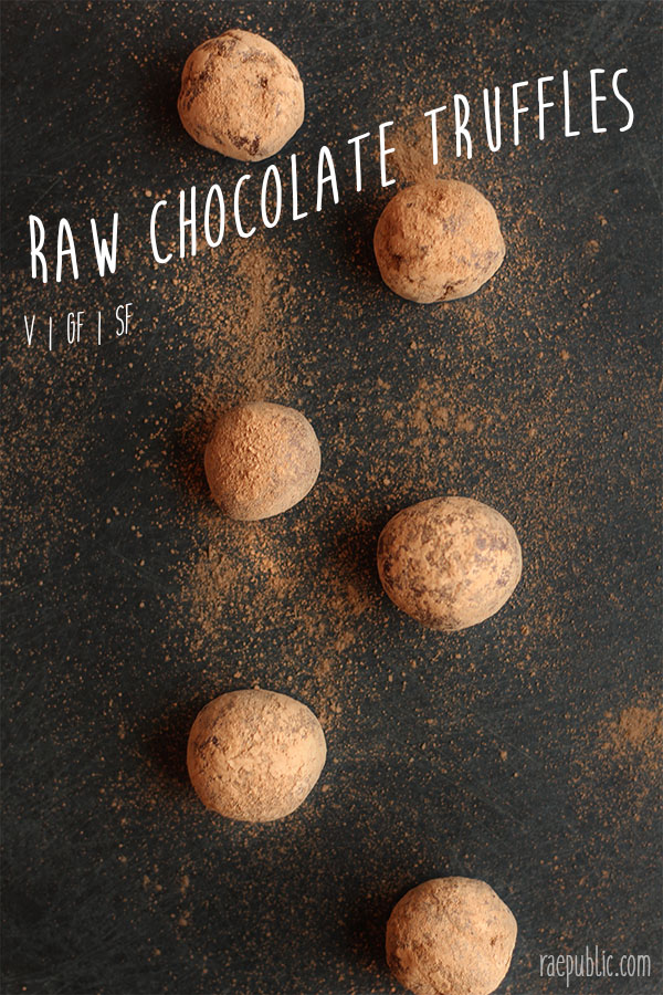 Raw vegan chocolate truffles baby! Seriously these puppies are two ingredients and take minutes to make...and only minutes to eat...so make a double batch before you regret it.
