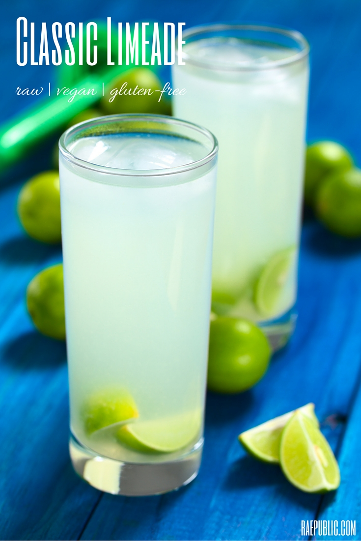 Easy Classic vegan Limeade that is so refreshing you could skip your daily coffee. This plant-based drink is dairy-free, raw and gluten-free.