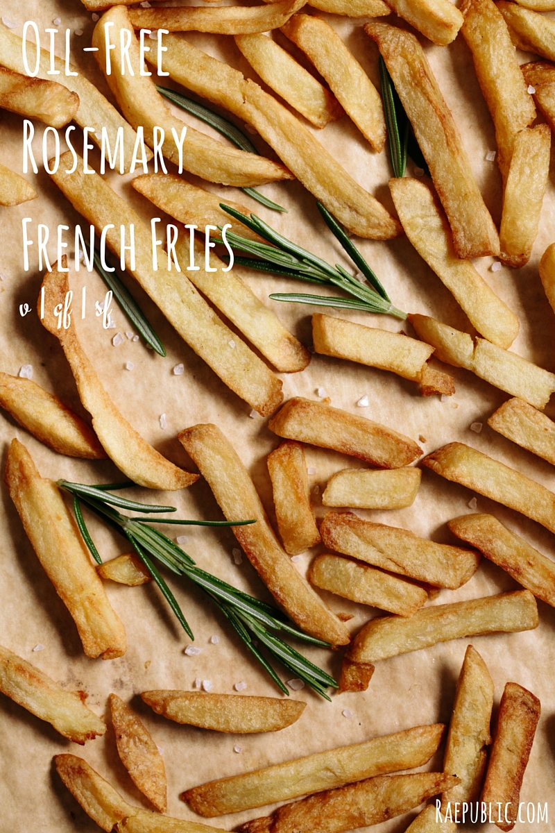 Taste bud tantalizing oil-free rosemary french fries. These DELICIOUS treats are vegan, gluten free and sugar free. Making them an awesome plant-based snack or even meal.