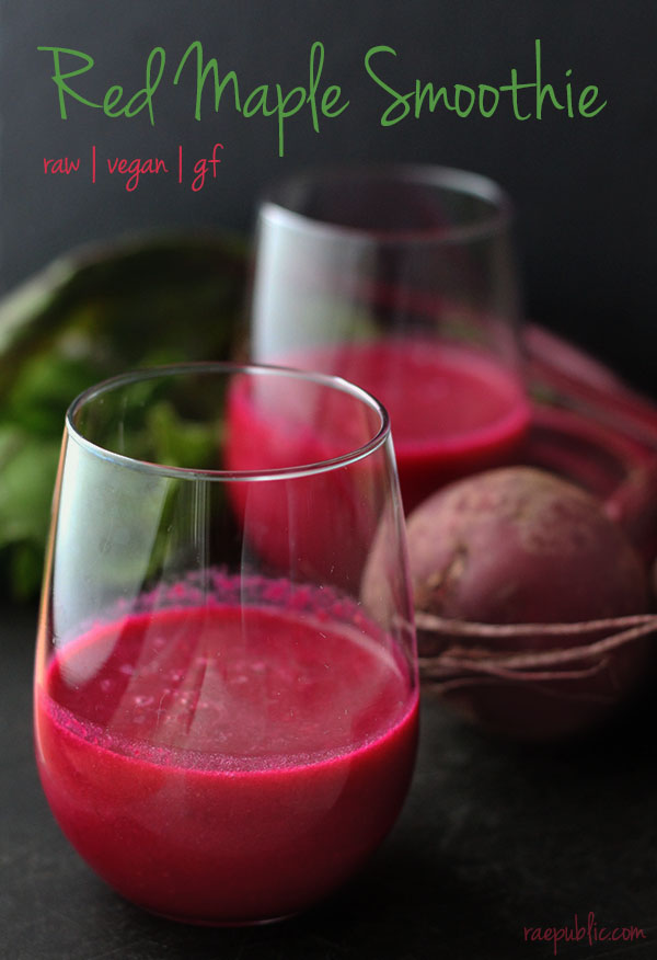 Easy, vegan beet and maple smoothie and it's raw.
