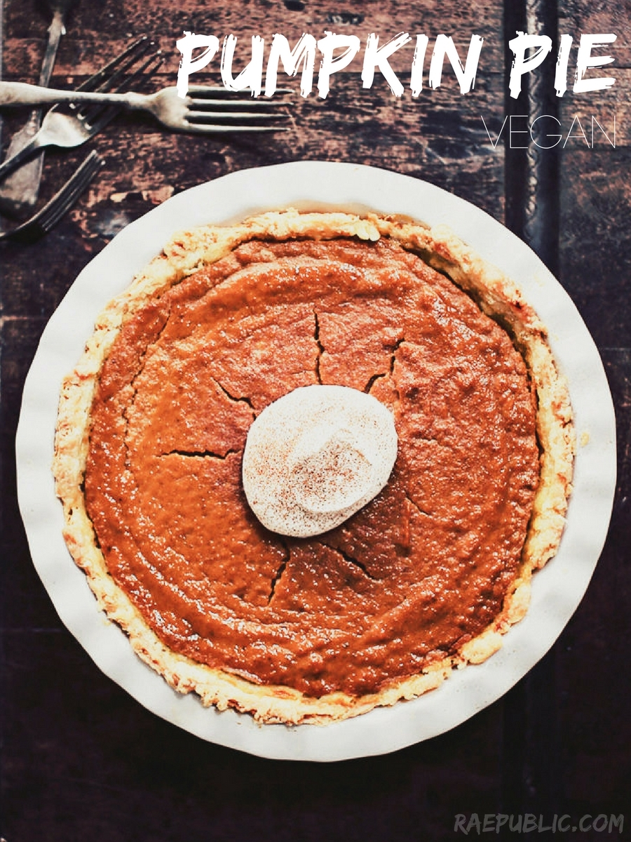 The most delicious plant based pumpkin pie ever!