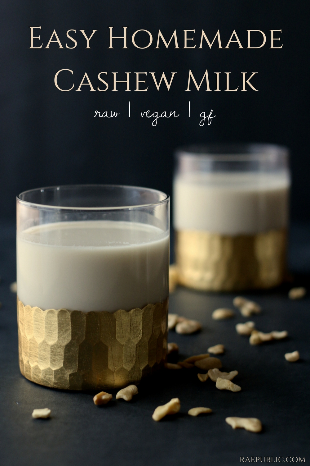 Easy homemade cashew milk that is so creamy it might just become your new favorite go to dairy-free milk!