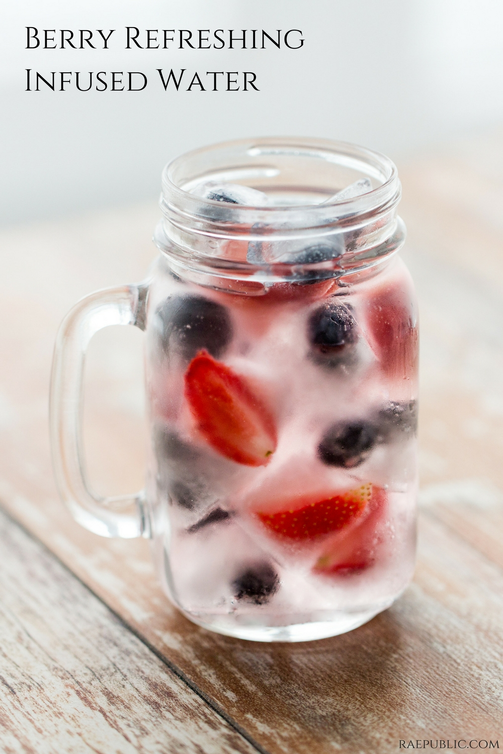Refreshing and delicious infused water made with strawberries and blueberries.