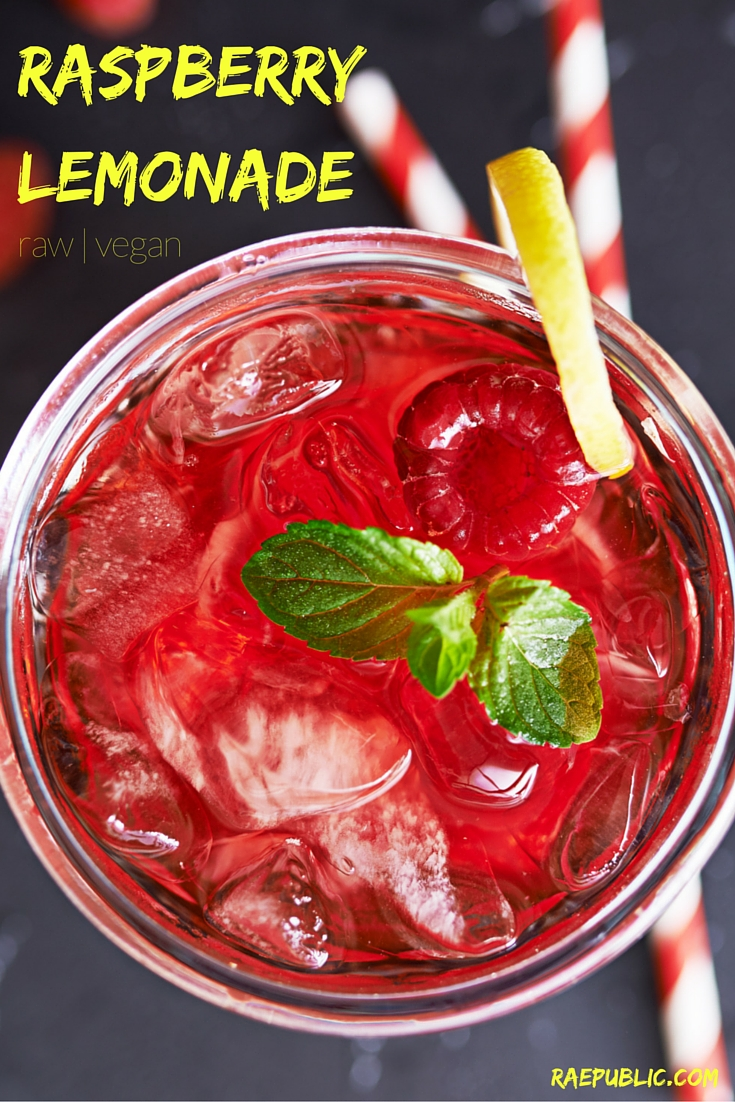 RASPBERRY LEMONADE - Easy, 4 ingredient raspberry lemonade sweetened with maple syrup. It's the perfect vegan drink for summer. Along with rejuvenating your taste buds, freshly squeezed lemon juice is high in vitamin C.
