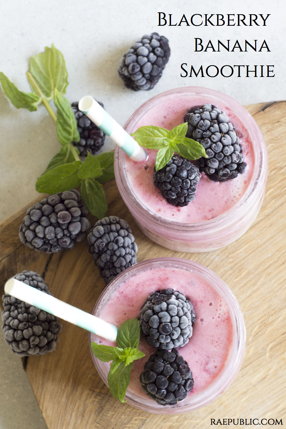 Easy blackberry banana smoothie thats vegan and delicious.