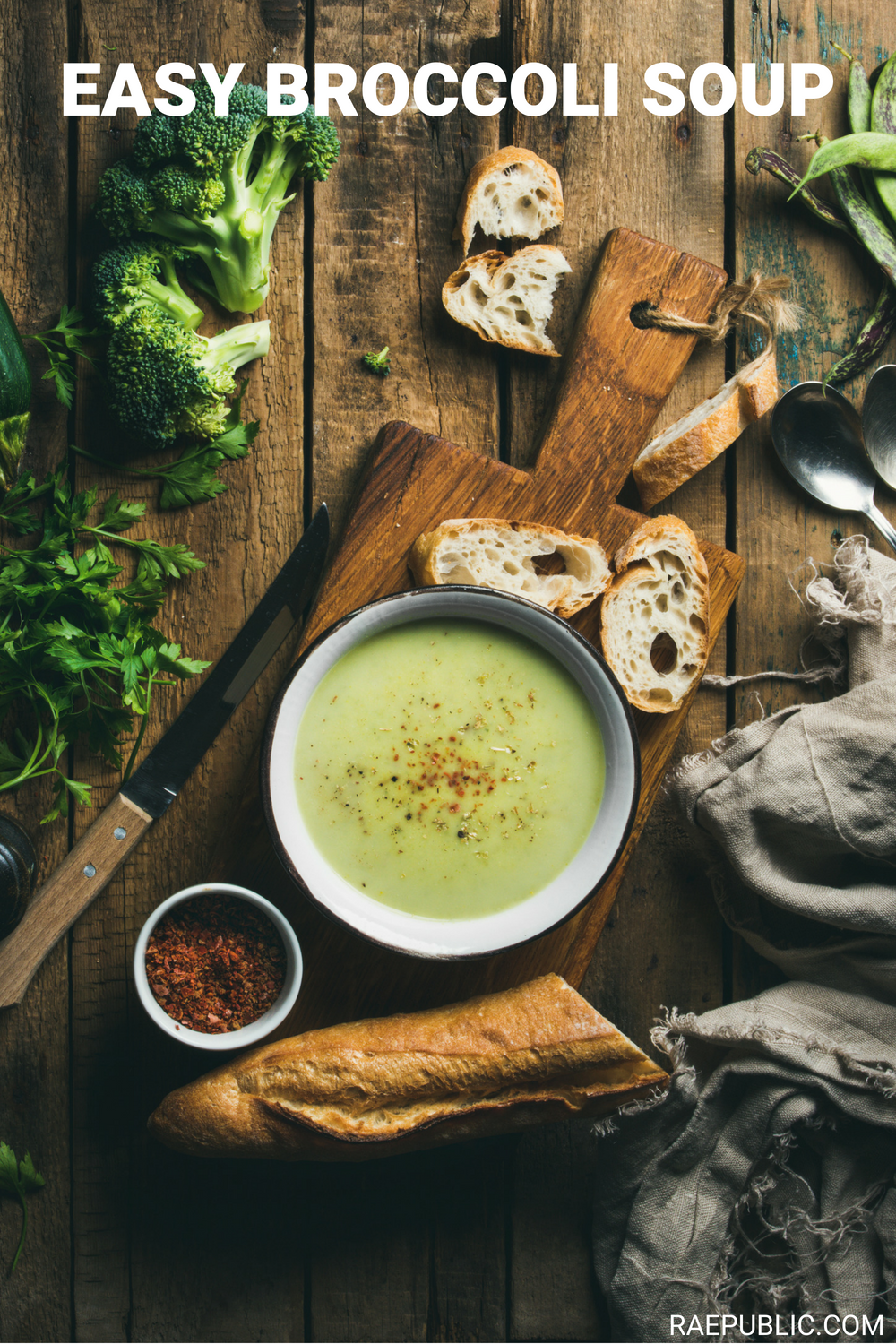 Easy and fresh, vegan broccoli soup. Made with plant-based whole foods this vegan recipe is delicious as can be.