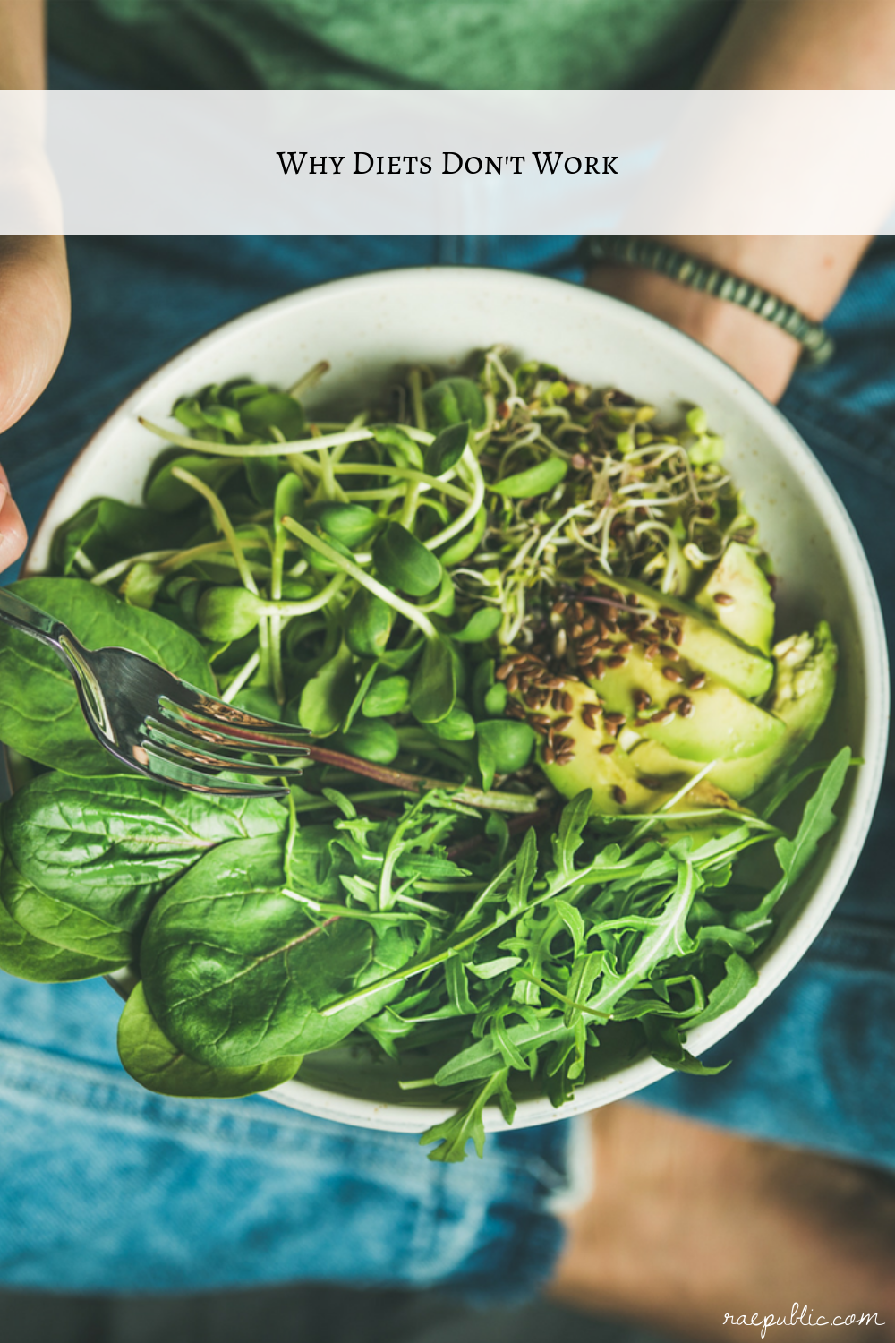 A blog post about why diets don't work from Raepublic's vegan blog.