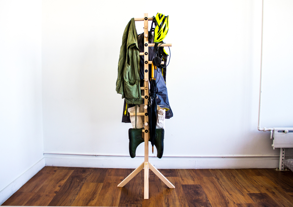 A Coat Rack Is A Simple Object That Can Be Hidden In A Corner Or Showcased