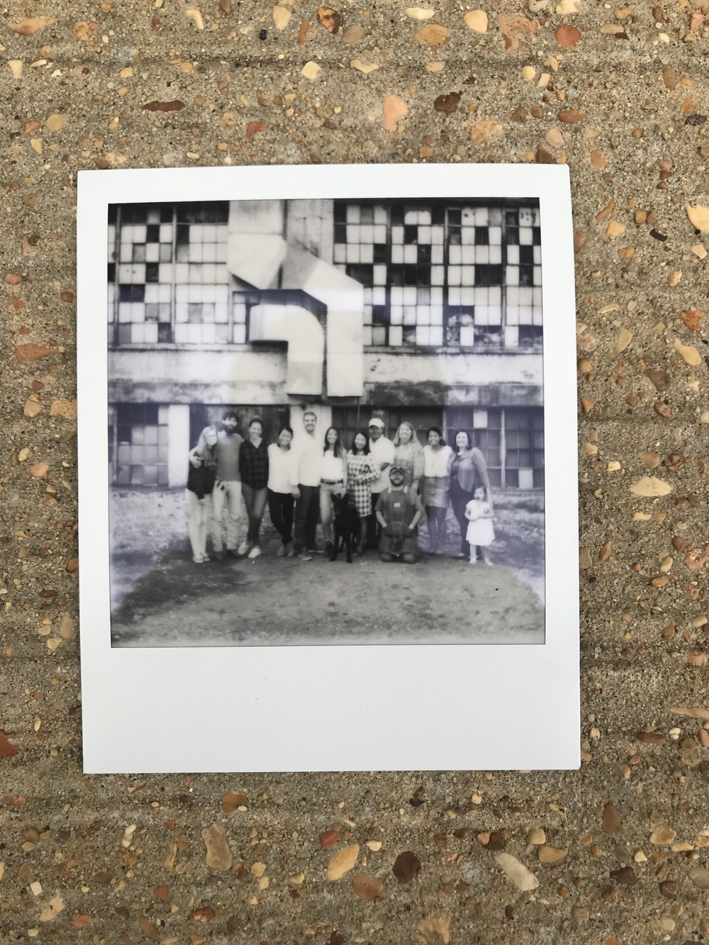 Polaroid of everyone that was there.