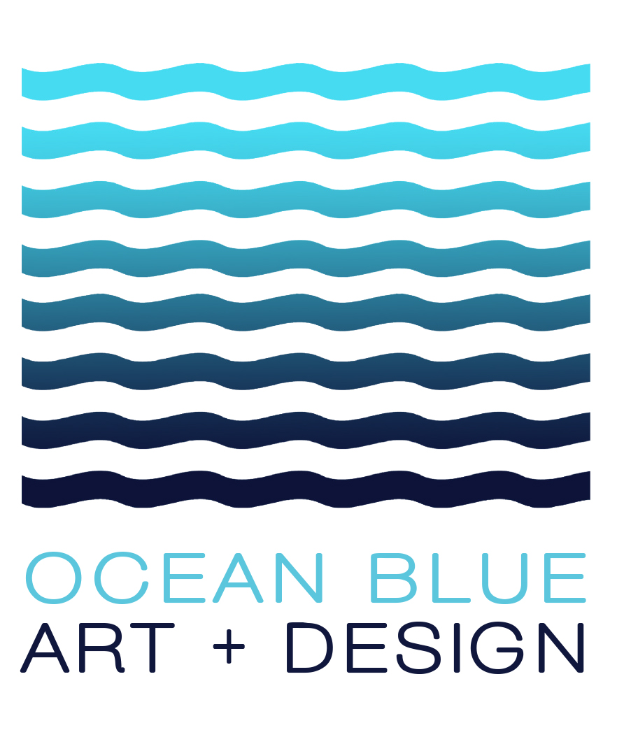 Ocean Blue  Art + Design
