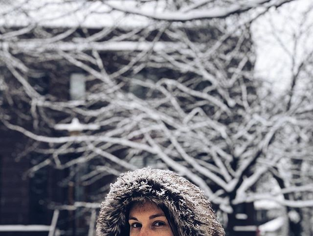 Snow day picture by @frantic.lee | 1.12.19 • • • #fauxfur #eskimo #snowday #snowstorm #snow #INwx #vsco #vscocam