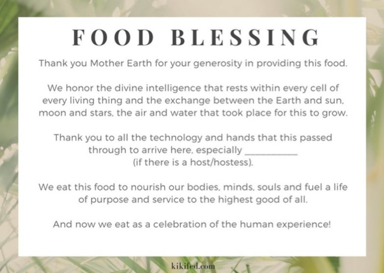 Food Blessing