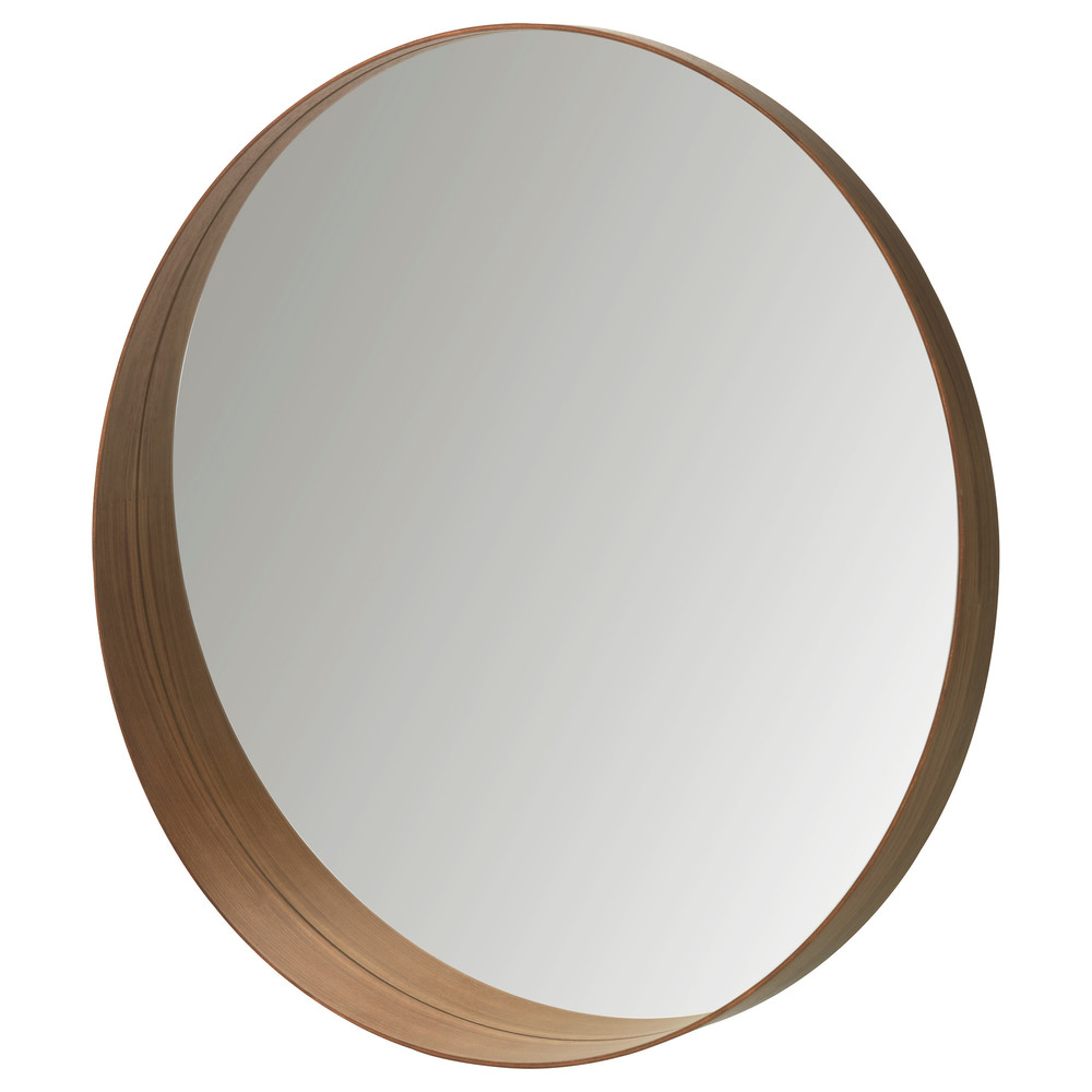 Replace the large, outdated mirror with IKEA's Stockholm Mirror